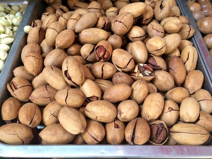 Pecans in local market