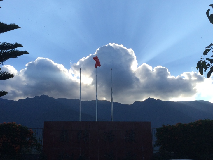Sunset over Cangshan Mountains in Dali Prefecture