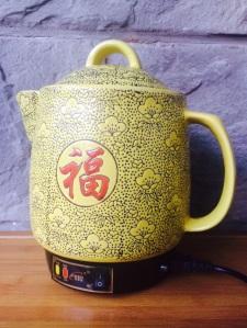 My own personal Chinese medicine (zhongyao) appliance.